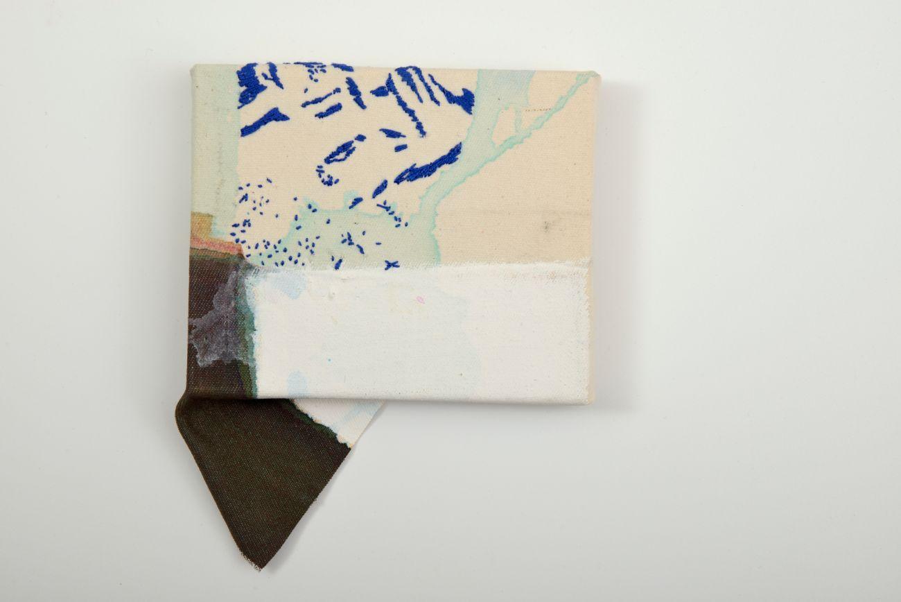 15 x 10 cm, akryl a vyšívka na plátne, 2017