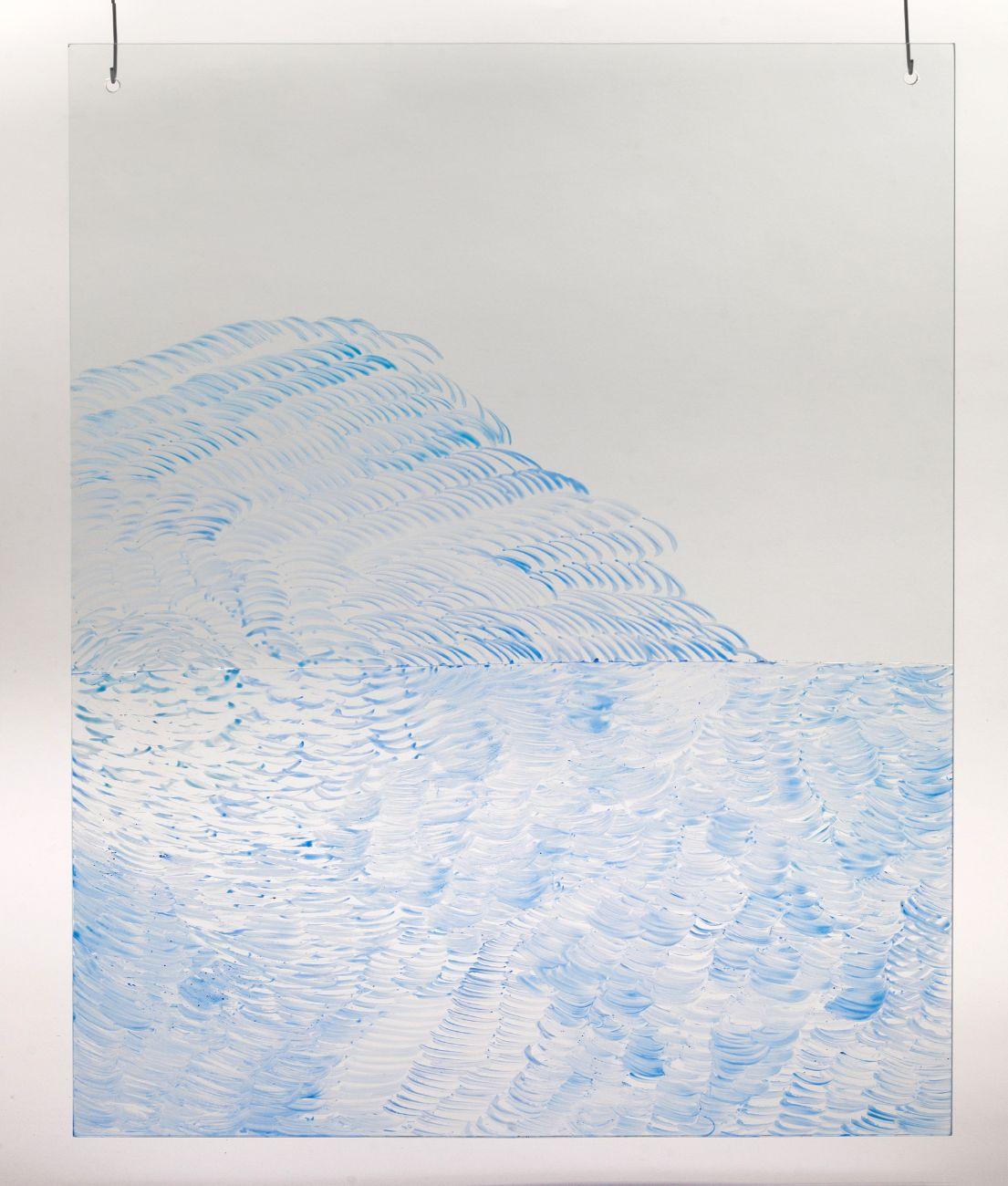 2, 40x50cm, maľba na skle, 2018