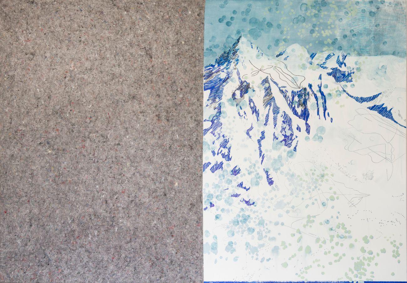 200 x 140 cm, kombinovaná technika, 2017