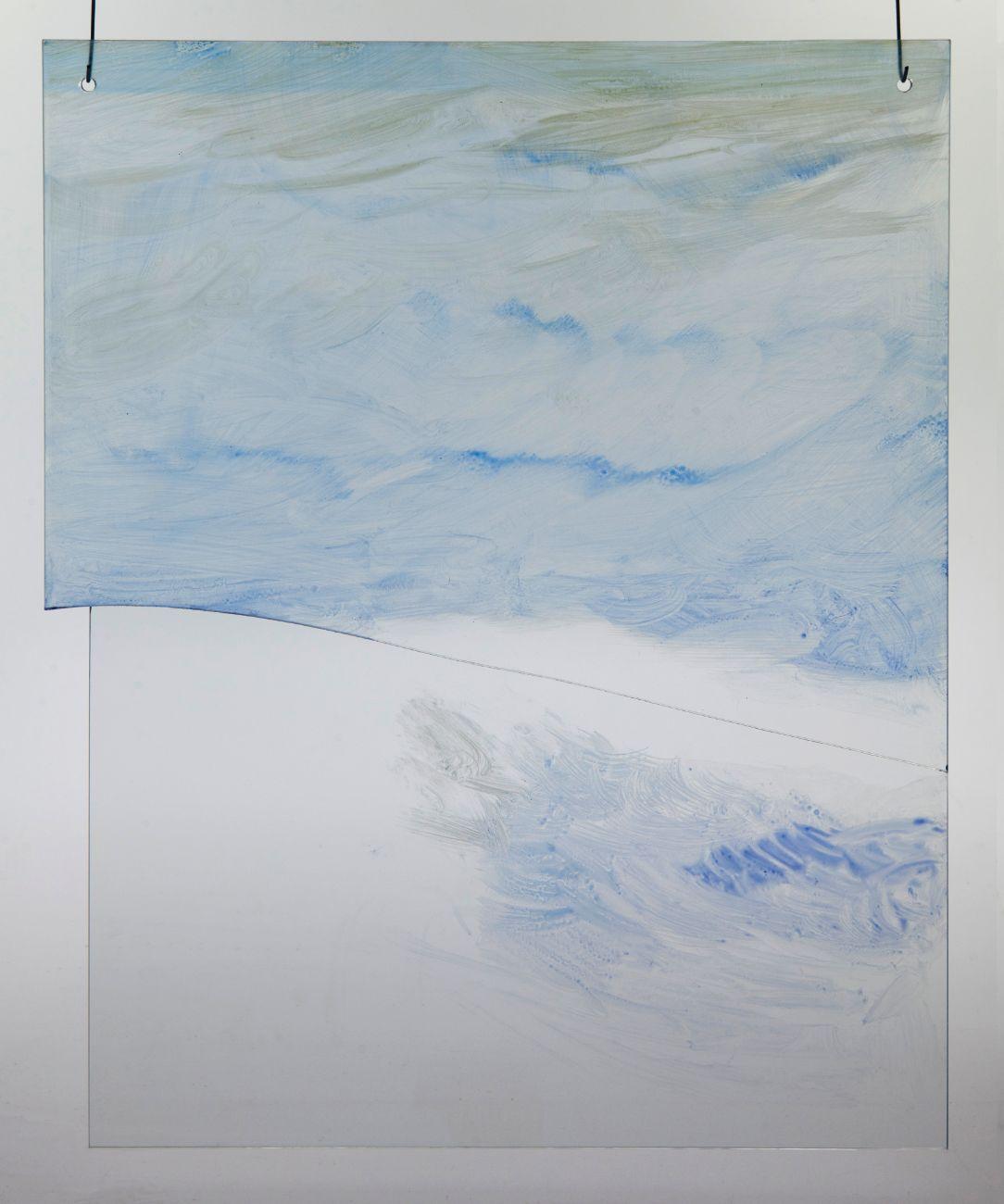 5, 40x50cm, maľba na skle, 2018