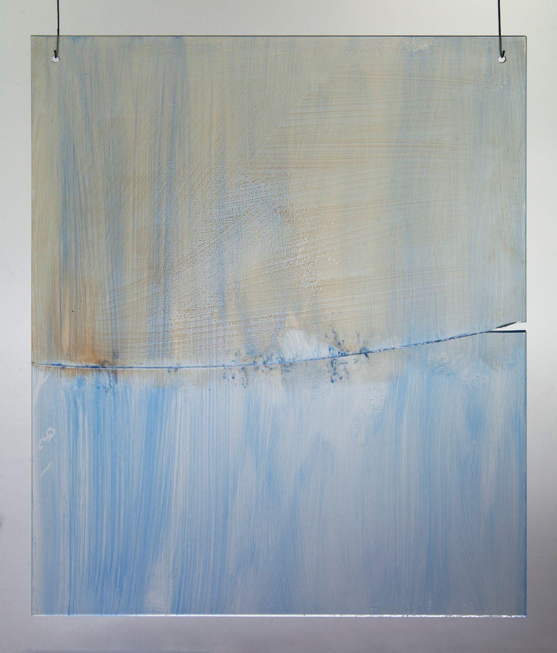 6, 40x50cm, maľba na skle, 2018