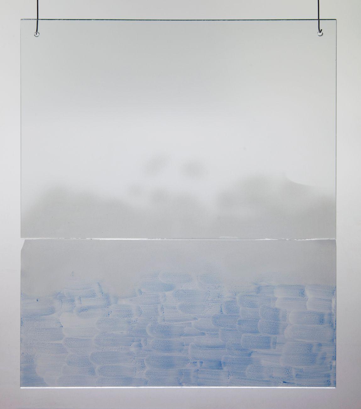 7, 40x50cm, maľba na skle, 2018