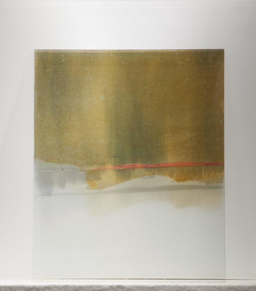 8, 40x50cm, maľba na skle, 2018