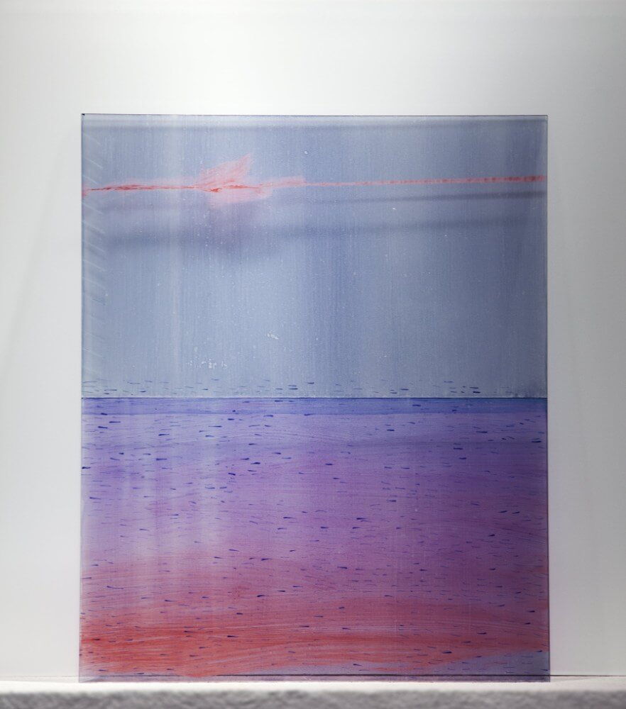 9, 40x50cm, maľba na skle, 2018