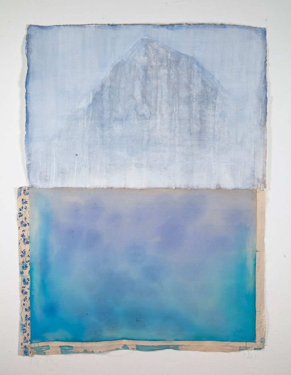 Bez názvu (hora), 90 x 150cm, kombinovaná technika, 2019