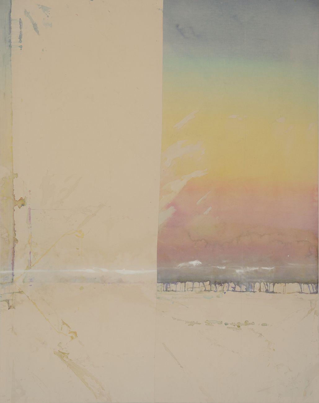 Dawn, 150x190cm, mixed media on canvas, 2016