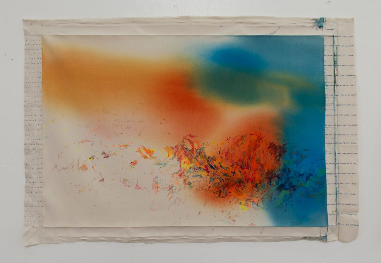 Dreams deposit, 158x107cm, mixed media on canvas