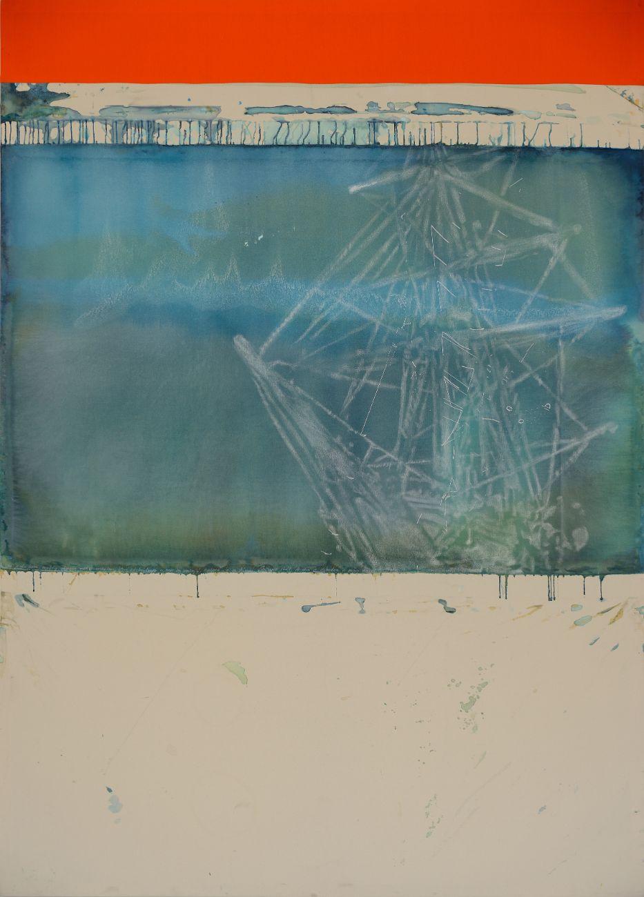 Endurance (final sinking) 136x190cm, mixed media on canvas, 2016