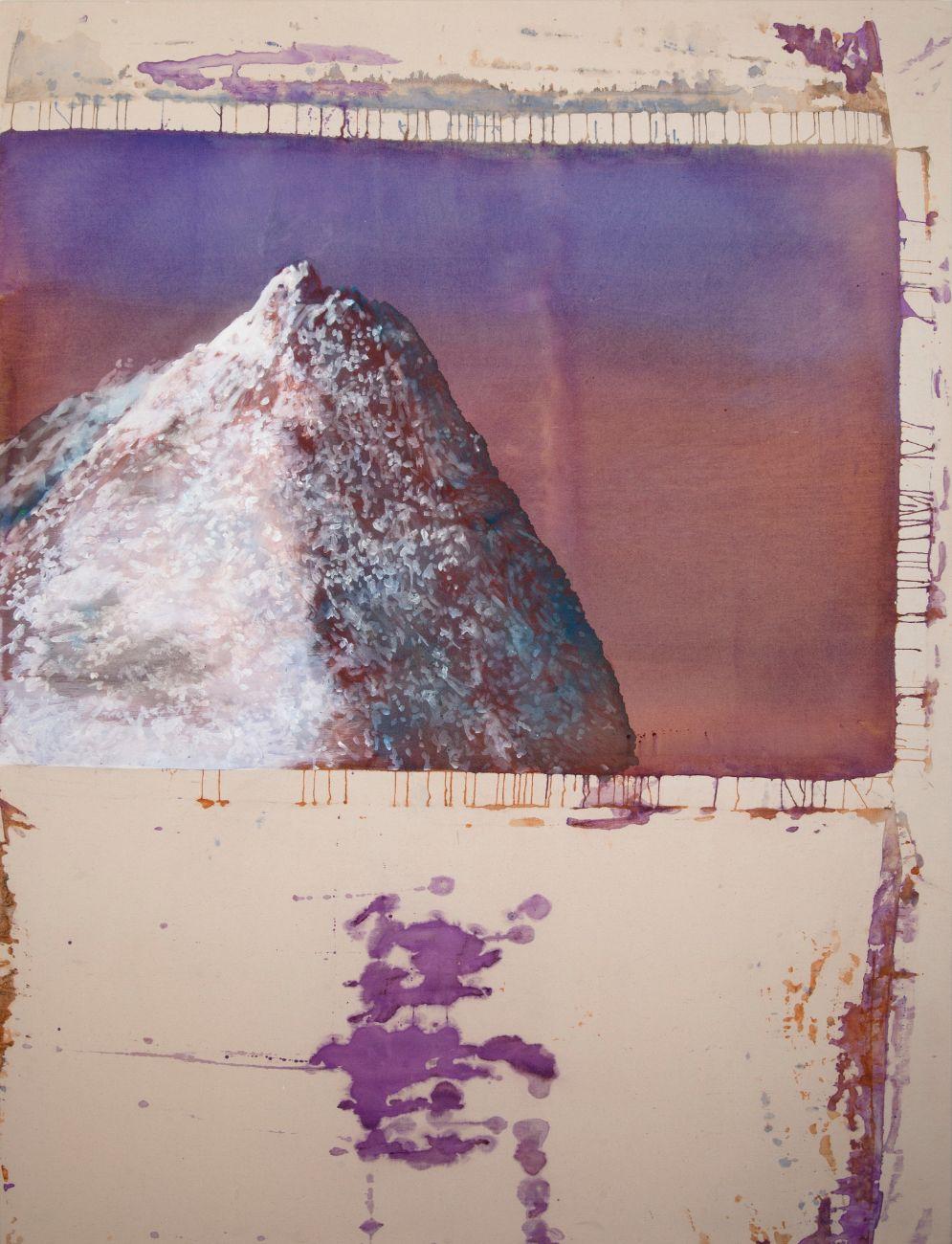 Hora bez mena, 190x145cm, akryl a rudka na plátne