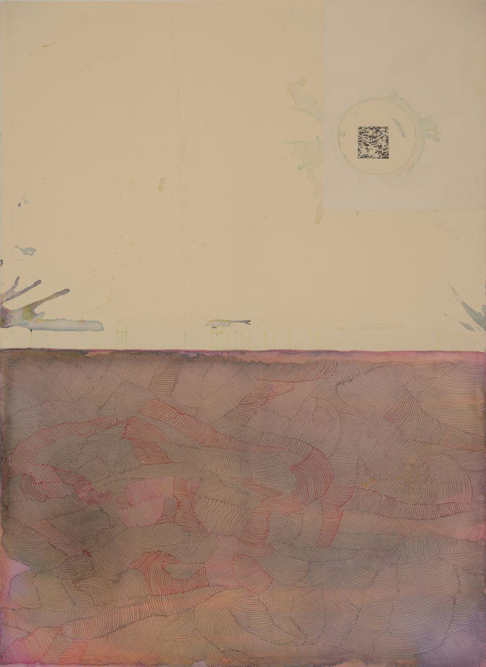 The sea, 136x190cm, mixed media on canvas, 2016