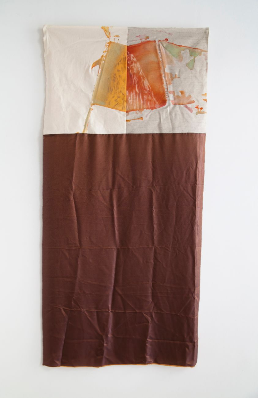 zo série Ostrovy, 150x75cm, kombinovaná technika