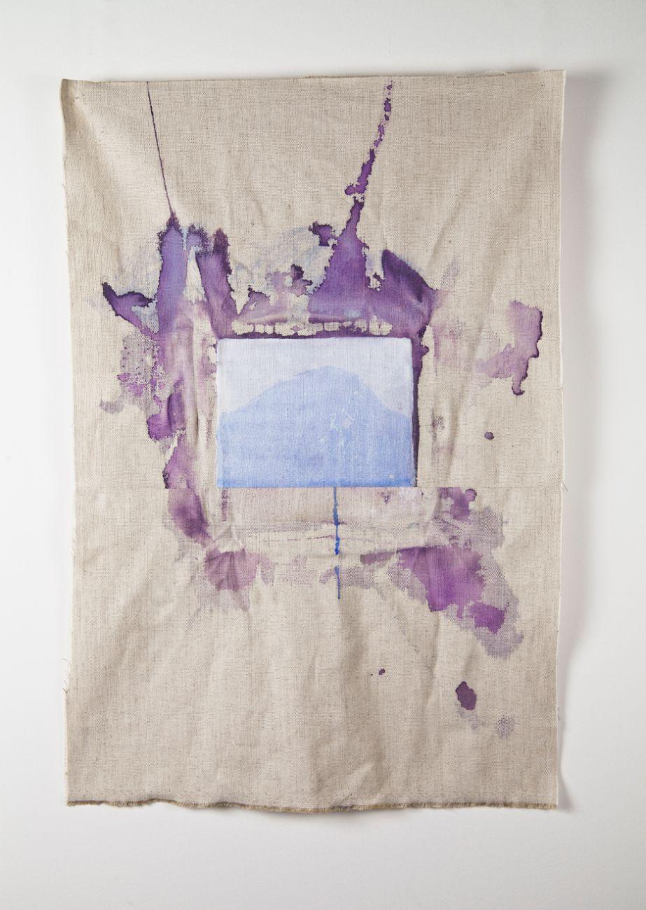 zo série Ostrovy, 74x50cm, akryl na plátne