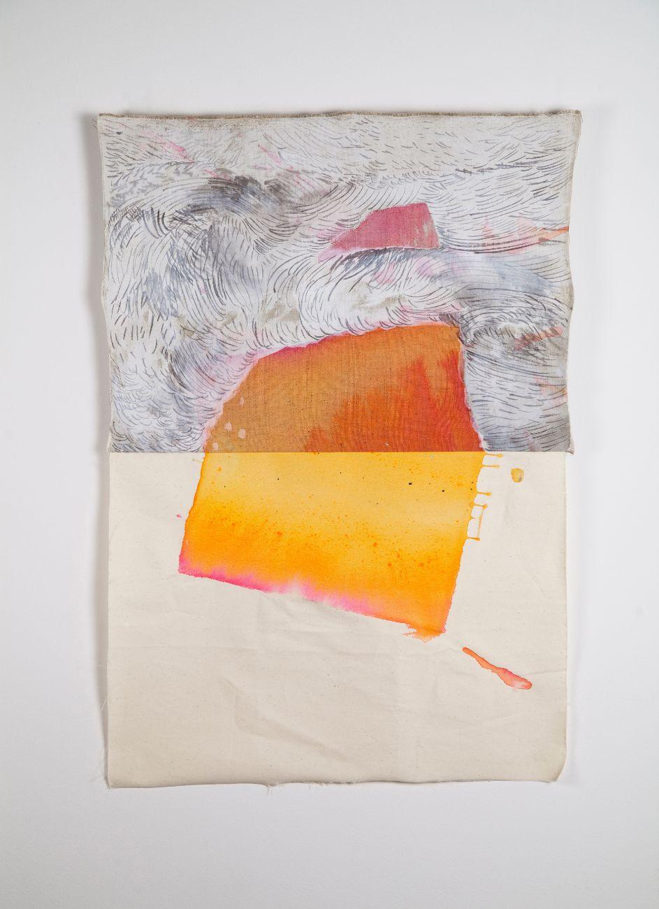 zo série Ostrovy, 75x50cm, akryl na plátne