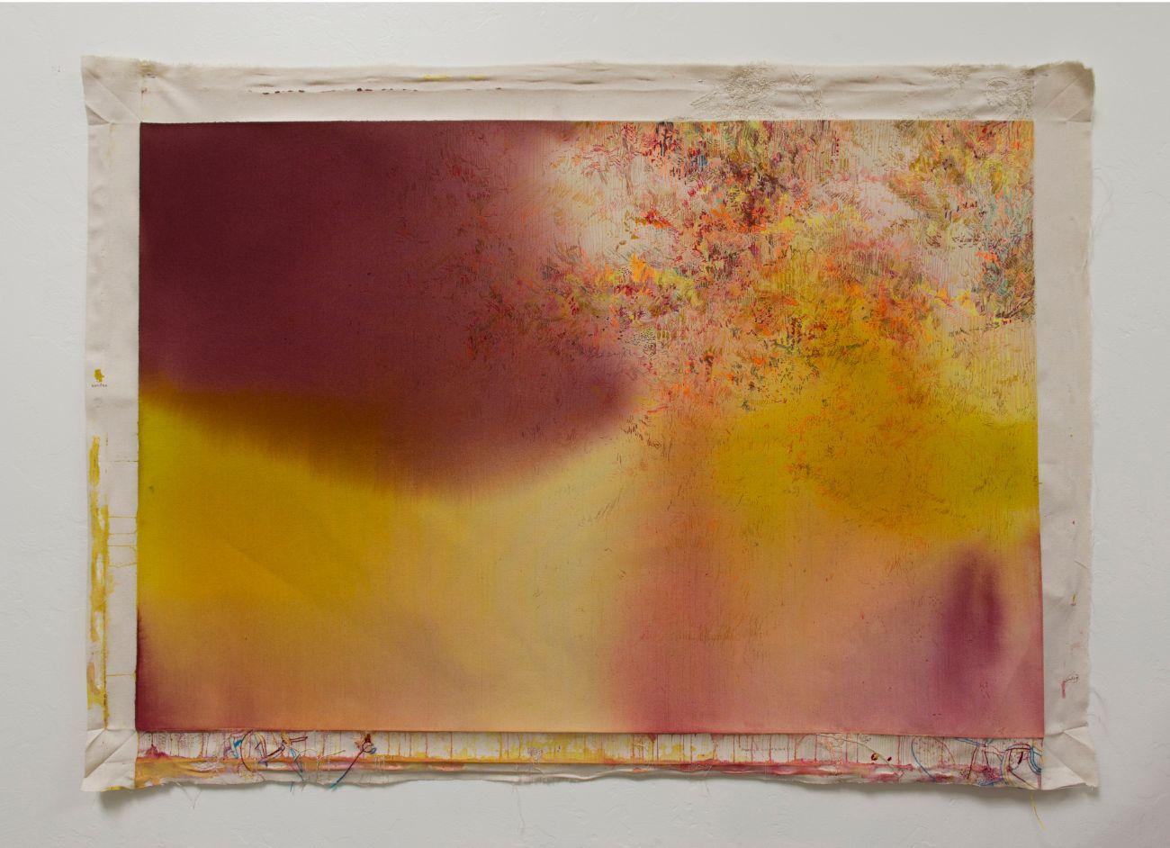 Rain, 150x107cm, mixed media on canvas