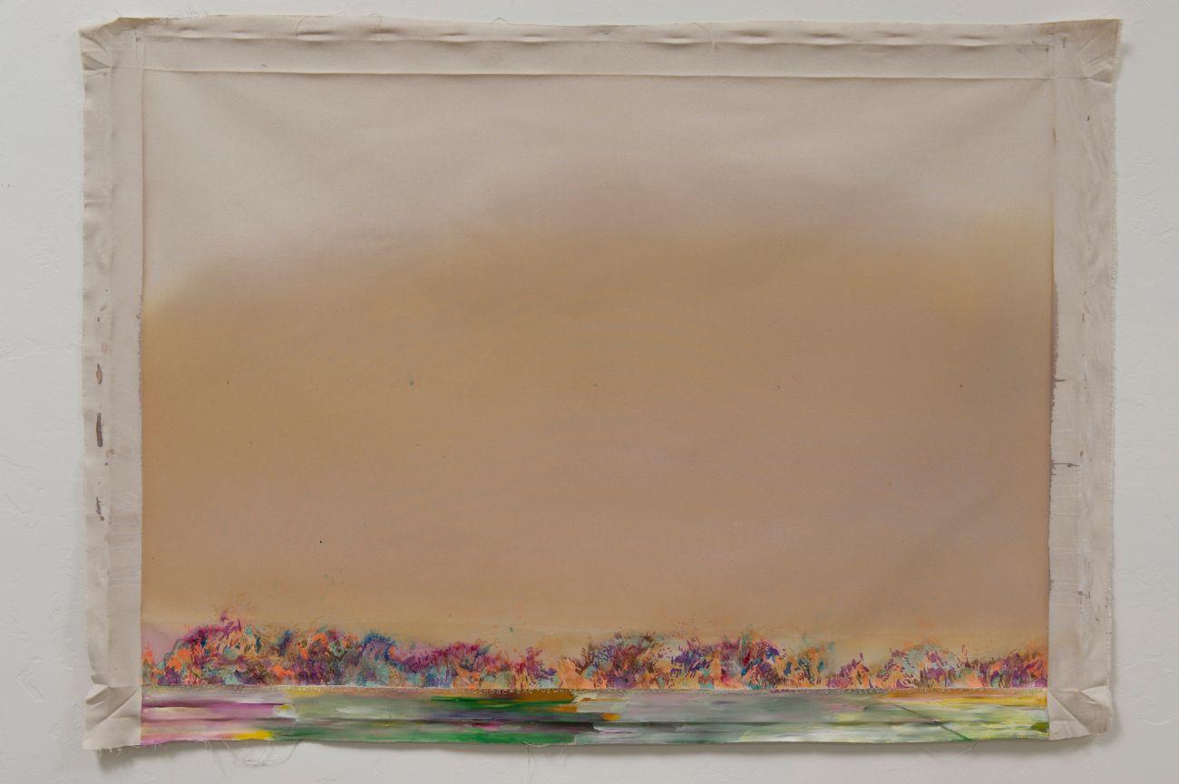 Secret land, 152x106cm, mixed media on canvas