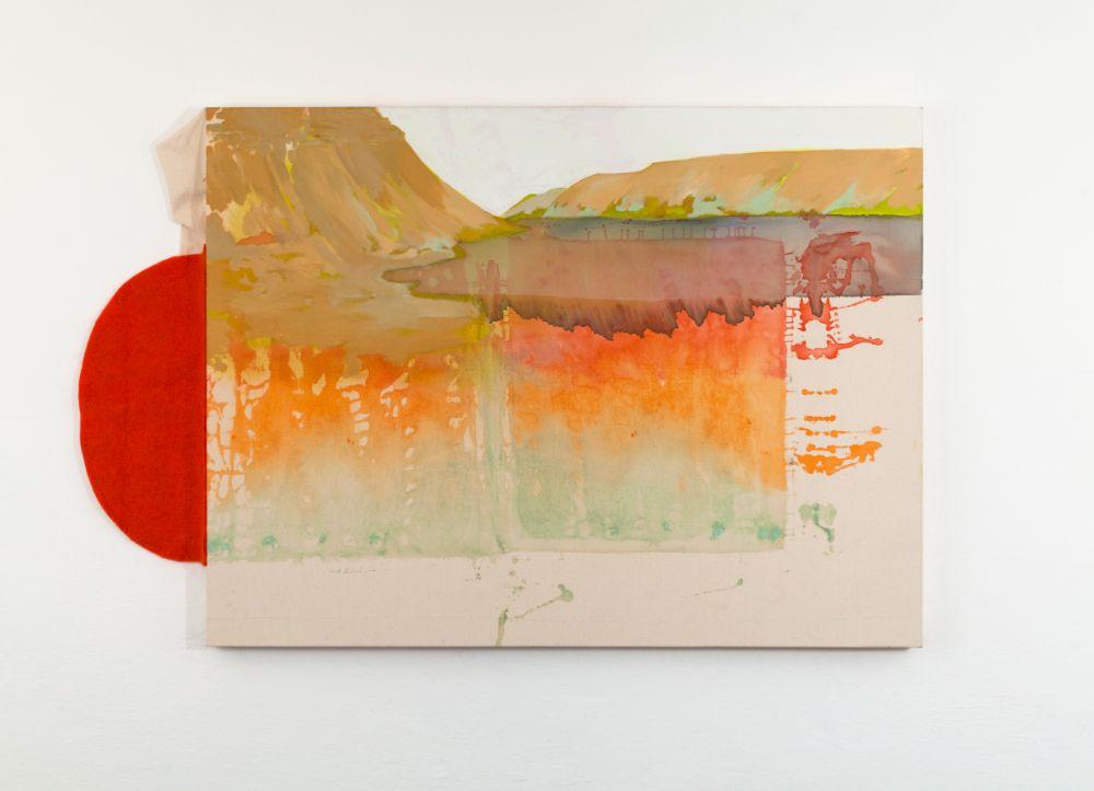 Dynjandi, 90x120cm, mixed media on canvas, 2021