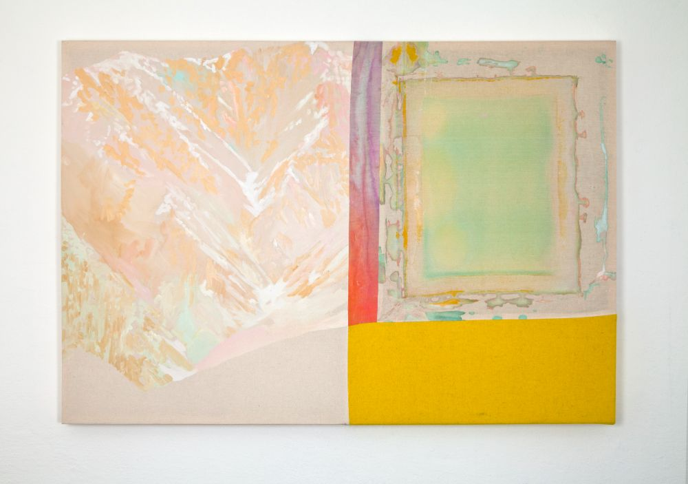 Hakuba, 90x130cm, mixed media on canvas, 2021